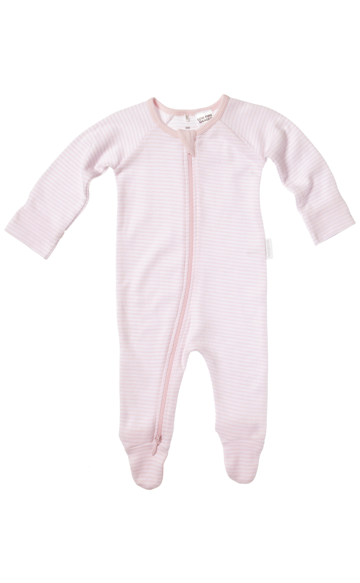 a0076de73 Printed Zip Growsuit - Pink Stripe - Millie Moo